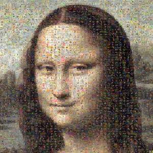 La Gioconda reproducida con la misma técnica de la imagen anterior.